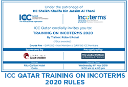 ICC QATAR TRAINING ON INCOTERMS 2020 RULES